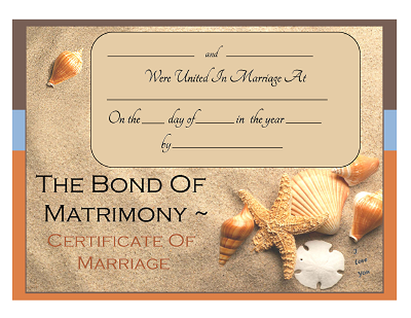 Free Keepsake Marriage Certificates