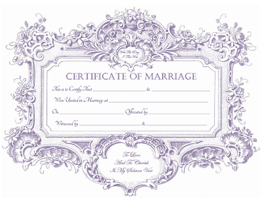 picture relating to Printable Marriage Certificates known as Partnership Certificates, Keepsake Partnership Certificates